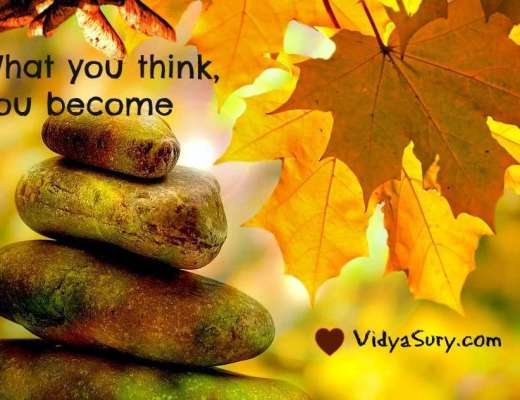 What you think, you become. Vidya Sury, Visualization