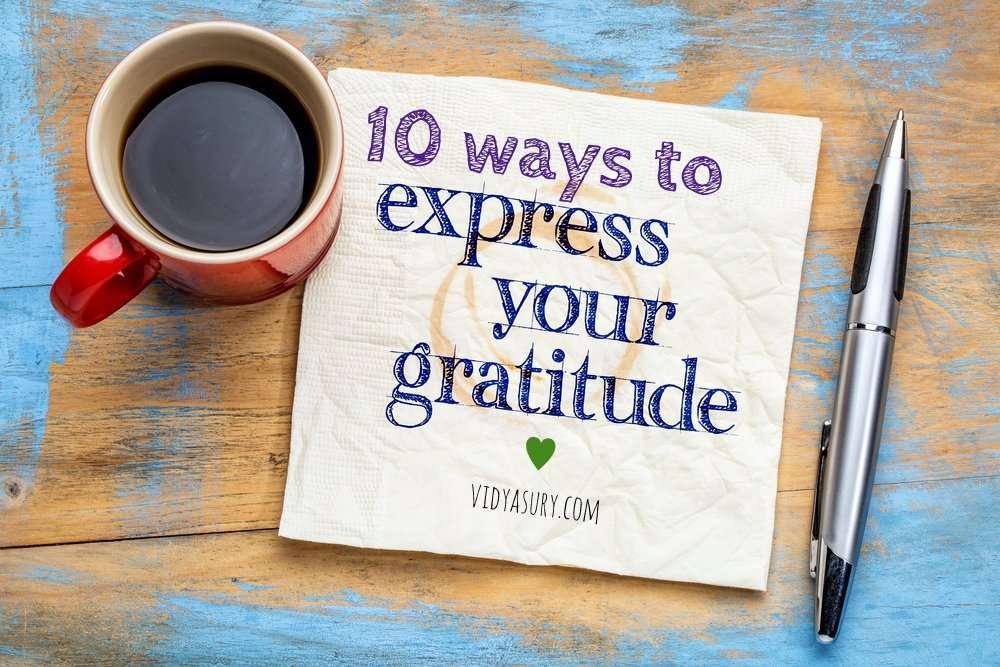 10 ways to express gratitude on World Gratitude Day Vidya Sury