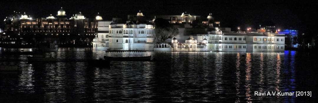 City palace by night Udaipur Udaipur #HaldighatiRun Vidya Sury