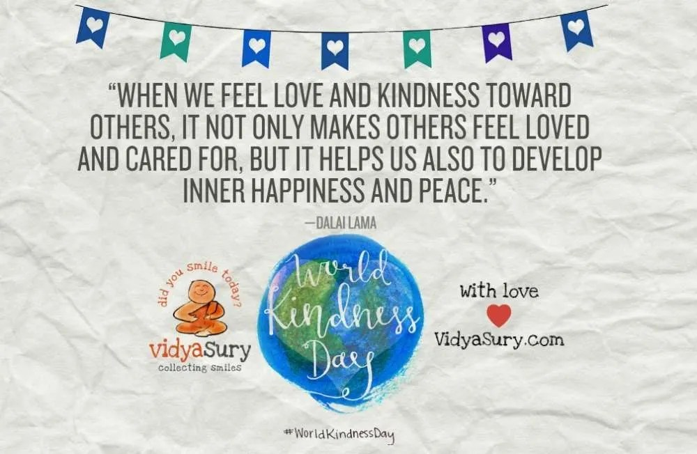 How to be a Kindness Ninja World Kindness Day Vidya Sury