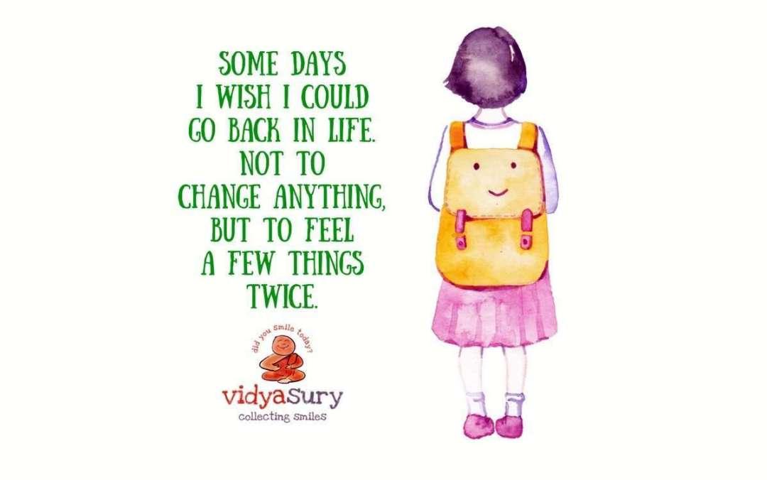 That first day of school Vidya Sury