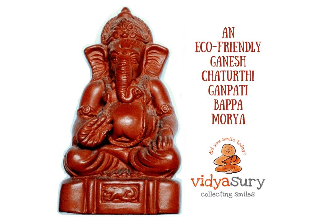 Ecofriendly ganesha immersion Vidya Sury