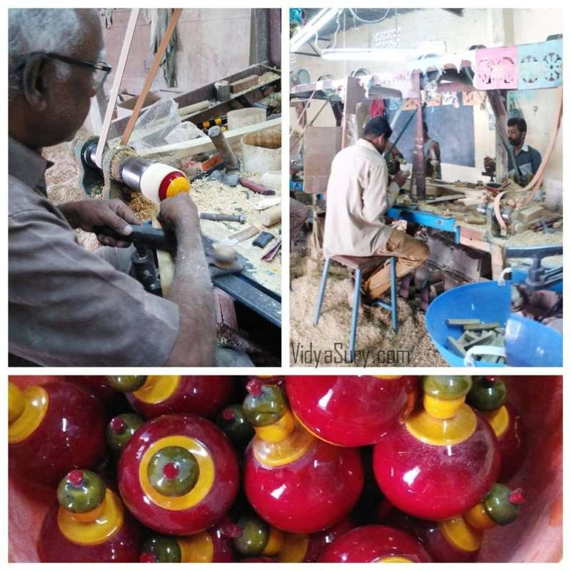 The process of making Channapatna toys. From my trip to Channapatna #OlaRental #toys #incredibleindia #travel