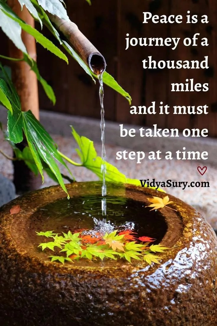 Peace is a journey of a thousand miles and it must be taken one step at a time #wednesdaywisdom #inspiringquotes #mindfulness