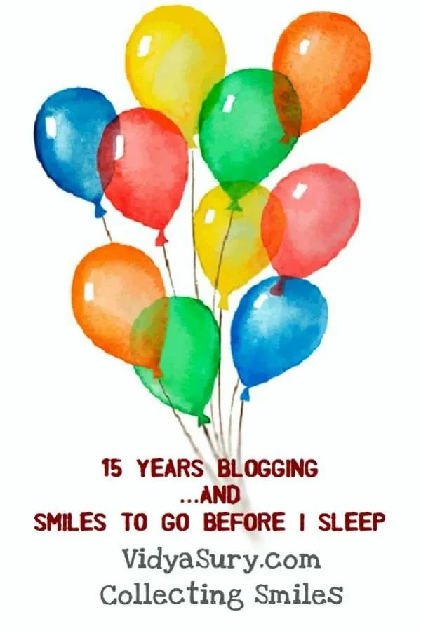 15 years blogging and smiles to go before I sleep #blogging #smiles