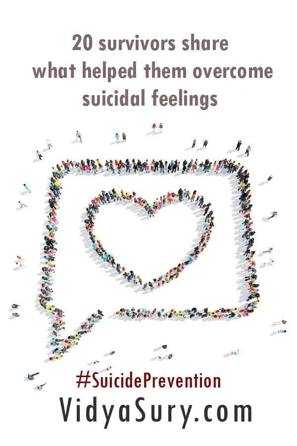 What helped these 20 survivors overcome suicidal feelings #SuicidePrevention #WorldSuicidePreventionDay