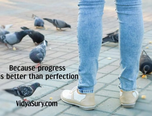 Because progress is better than perfection