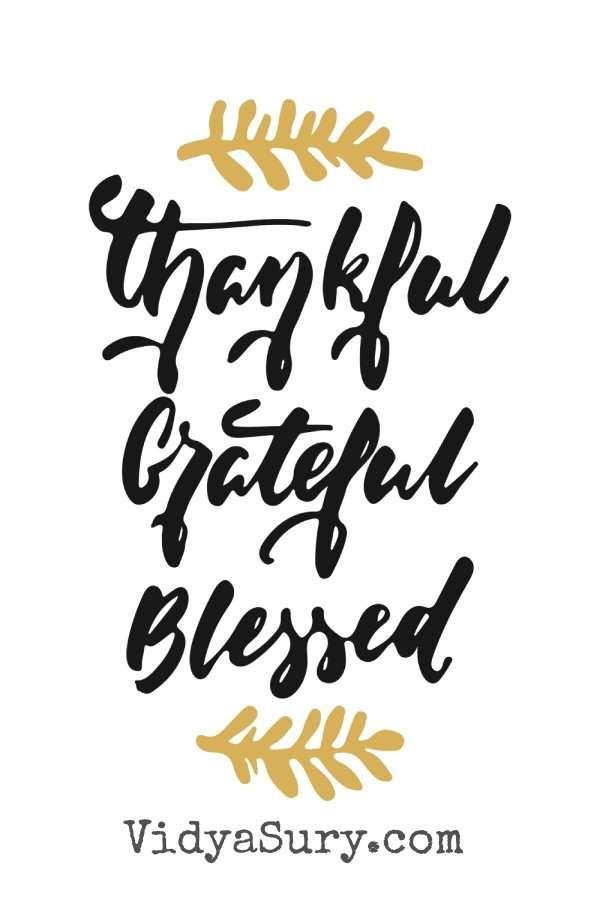 Thankful, grateful, blessed. #Gratitude #Mindfulness