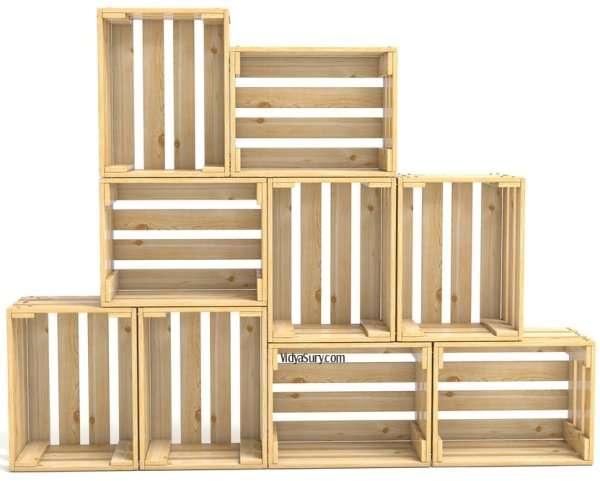 Easy DIY home decor hacks crate shelves