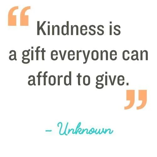 Kindness is a gift everyone can afford to give. Make Kindness the norm. 100 Random acts of kindness