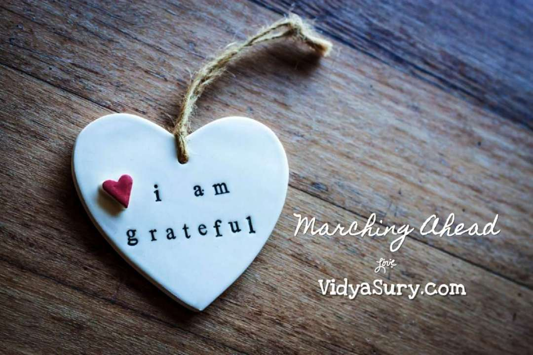 Marching Ahead Gratefully - March 2019 Gratitude Circle blog hop