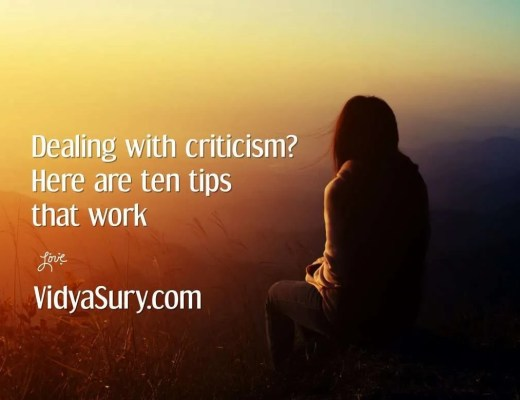 Dealing with criticism ten tips that work