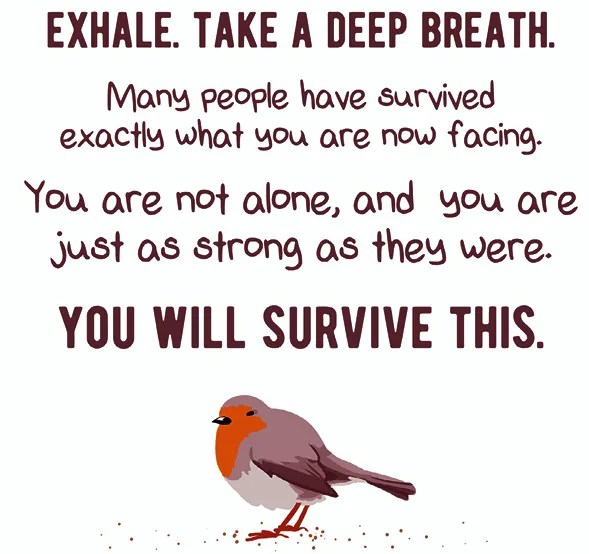 Exhale take a deep breath. You can do all things