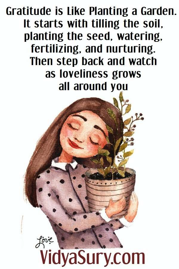Gratitude is like a garden. Raising a grateful child