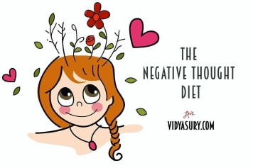 The negative thought diet. Change your thoughts change your life