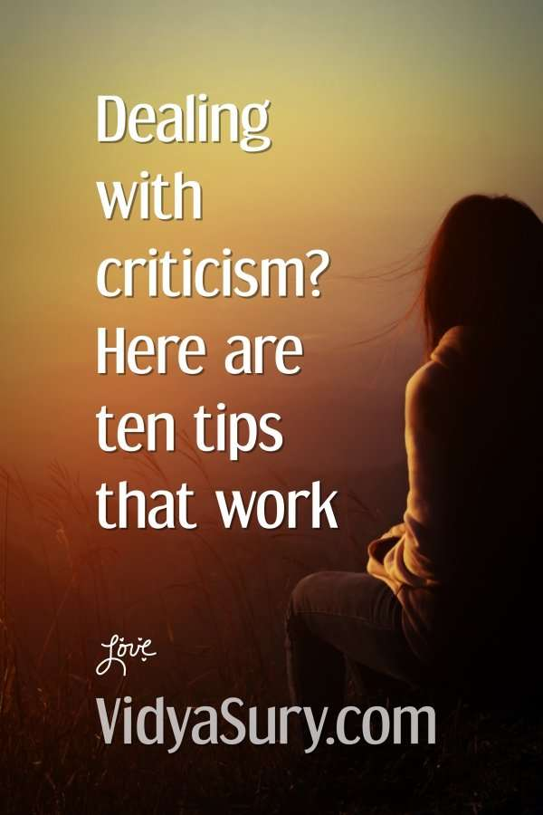 Ten tips for dealing with criticism effectively