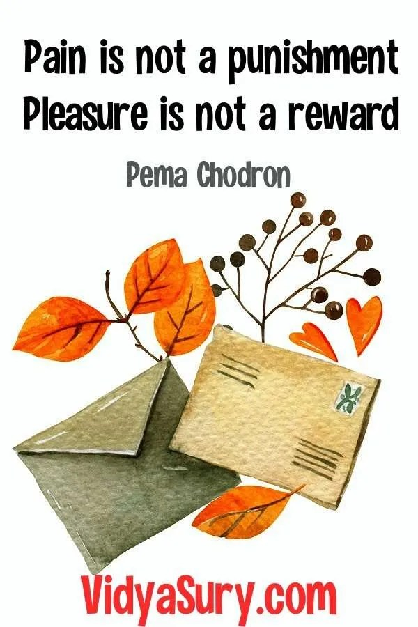108 inspiring quotes from Pema Chodron Pain and Pleasure