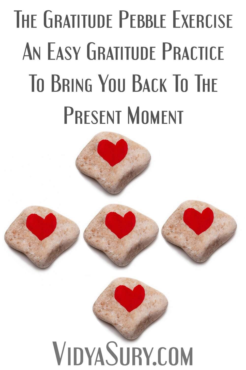 Easy gratitude exercise with a pebble