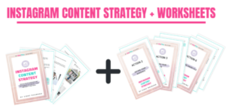 Instagram Content Strategy + Worksheets