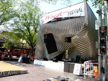 """""""The Cube"""" où le festival et une partie des concerts ont lieu"""