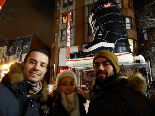 Compet de snowboard en pleine rue
