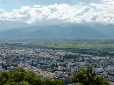 Vue depuis el teleferico, Salta-Argentine en stop (2)