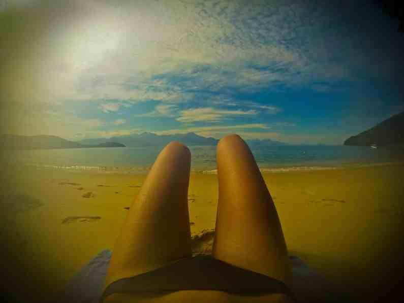 Plage déserte Ilha Grande-Brésil