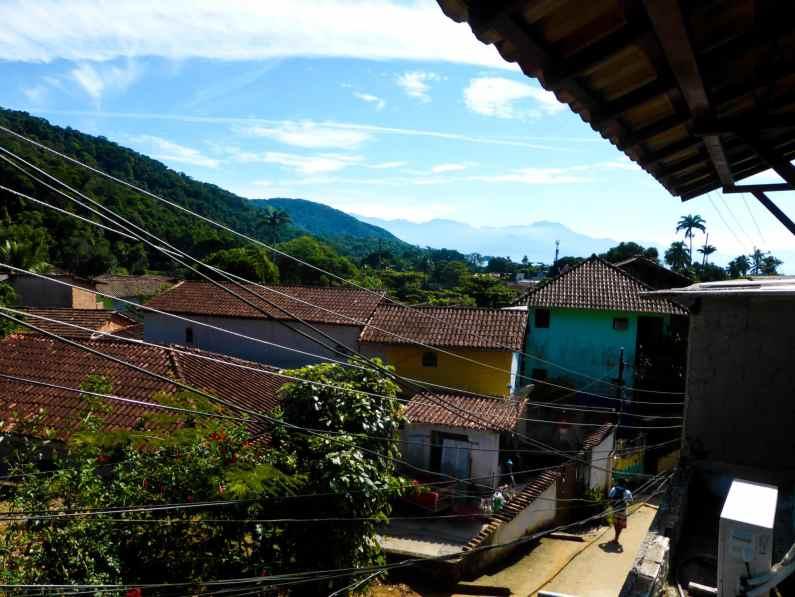 Vue auberge Ilha Grande-Brésil