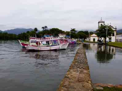 Port marée haute Paraty-Brésil