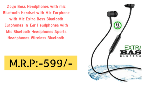 bf58c9bbbcd Top 10 World class Wireless Bluetooth Earphones in India under 1000 ...