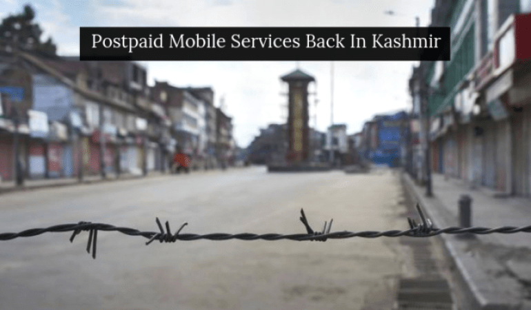 Postpaid Mobile Services Back Again In Kashmir