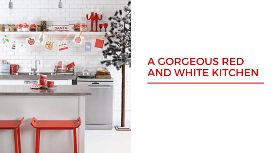 Red and White Christmas Tree decoratio ideas