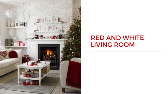 Red and White Christmas tree Decorations Ideas