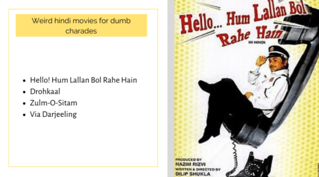 movies for dumb charades