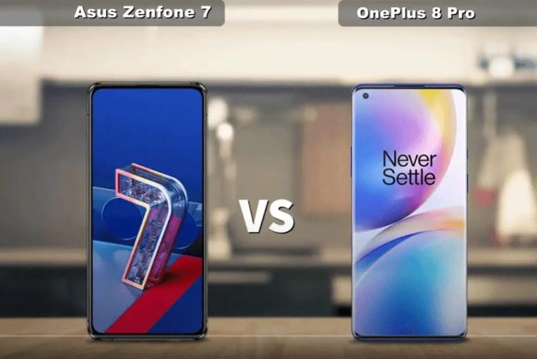 Asus zenfone 7 vs oneplus 8 pro