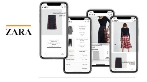 Zara shopping app- best shopping apps for iOS 2021