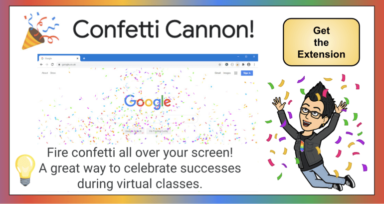 Confetti Canon Extension: 15 Best Google Chrome Extensions for Teachers