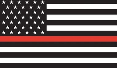 thin red stripe on the American Flag