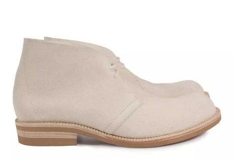 clean white suede boots: clean white shoes