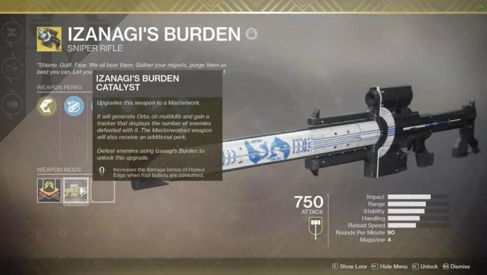 Unlock Izanagis Burden Catalyst