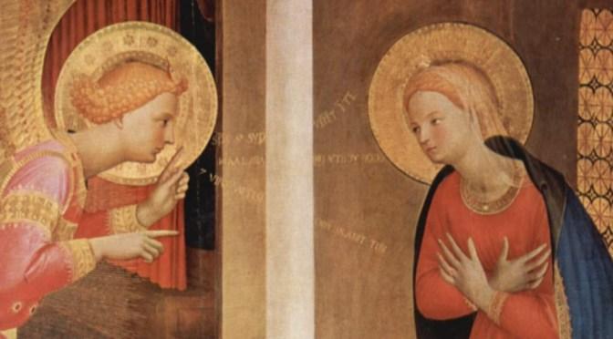 La vocation de Marie au moment de l'Annontiation