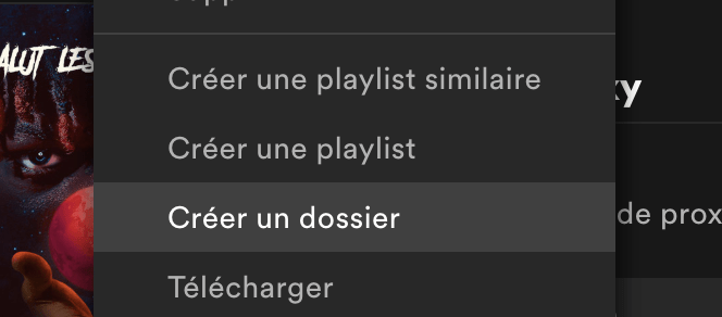 creer dossier spotify