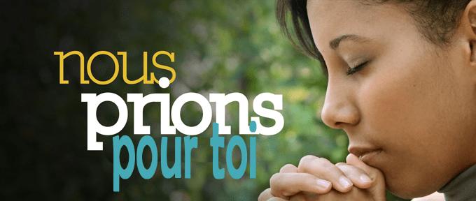 Nous prions pour vous