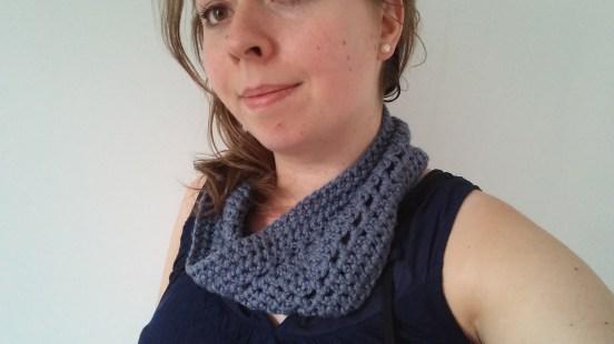 snood bleu chouette kit bride crochet morue 9
