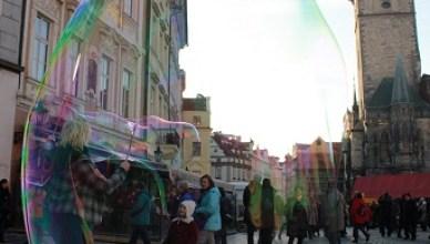 Burbuja en el centro de Praga, República Checa