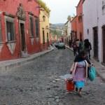 Calles de San Miguel de Allende en Mexico