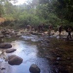 Lagunas en el trek a la Ciudad Perdida de Colombia
