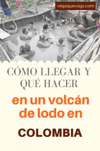 El volcán El Totumo, cerca a Cartagena de Indias
