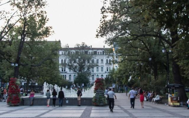 Der Stadtgarten direkt am Nationaltheater