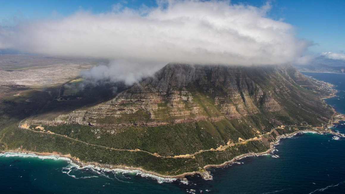 Attracties in Kaapstad Helikoptervlucht naar Cape Point